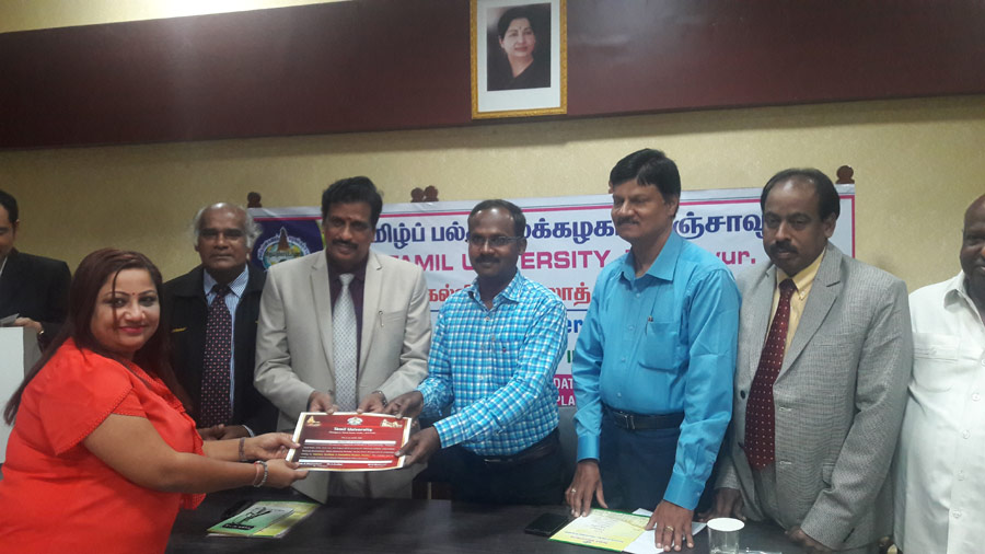 Chennai Tamil Sangam participated in the Inaugural of Edu-Tour International Programme on International Business Practice conducted by Tamil University.