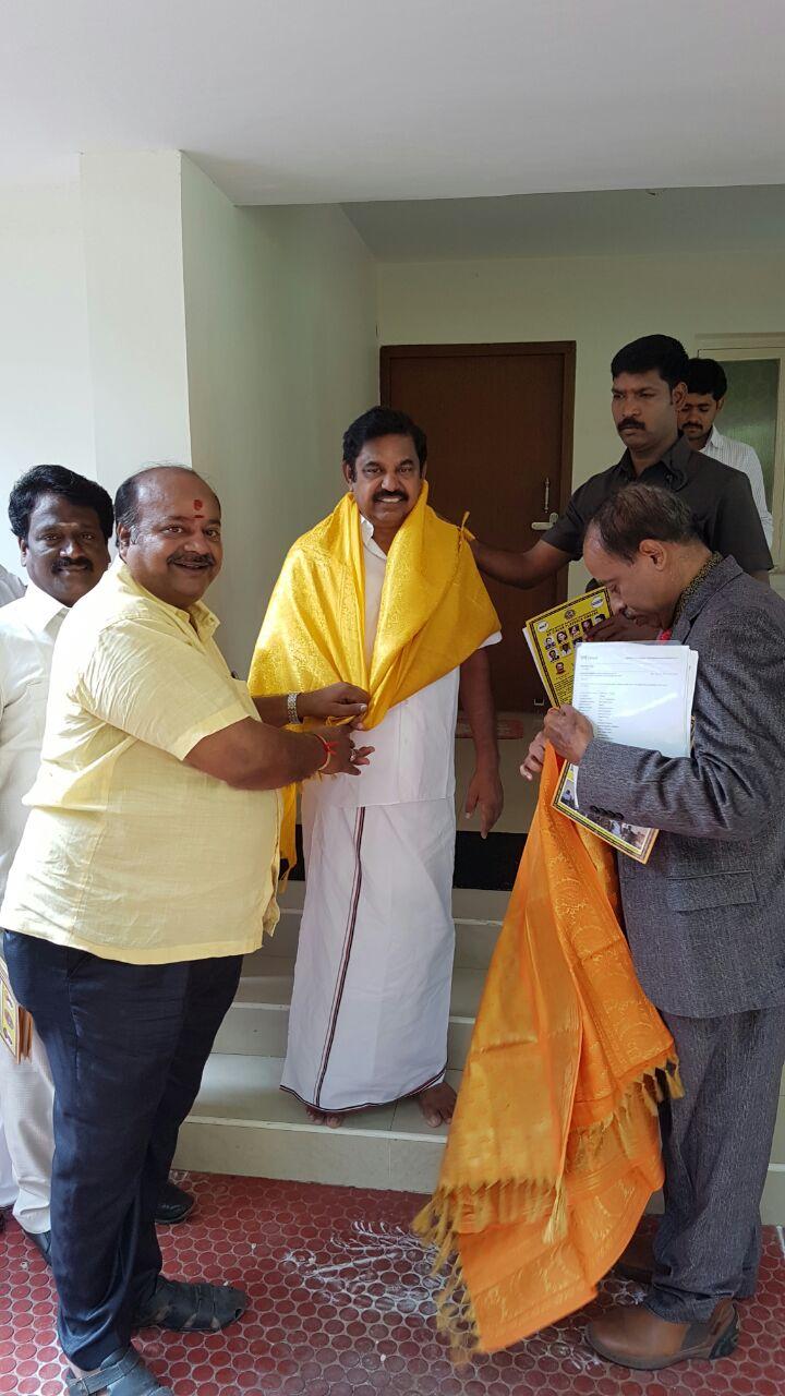 Chennai Tamil Sangam Members Meeting with Hon'ble Chief Minister of Tamil Nadu